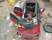 于月仙遇车祸去世:涉事车辆车顶被掀开