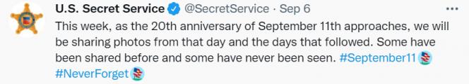 """满目疮痍!20年后,美国特勤局发推公布""""9·11""""事件""""罕见""""照片"""