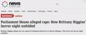 澳洲国会丑闻!美女在部长办公室遭强暴 还不敢起诉