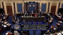 美参院:特朗普弹劾案审理符合宪法 定罪几乎不可能