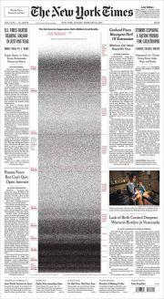 《纽约时报》头版揭美疫情灾难