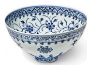 美国拍卖罕见青花瓷碗:估计50万美元 卖家入手仅花35美元
