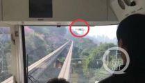 工作人员回应重庆轻轨遭无人机撞击:我们无权禁止
