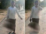 印度一名父亲砍下17岁女儿头颅拎着去自首 因不同意其交男友