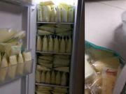宝妈存300斤母乳装满冰箱:耗时3个多月