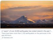 10天地震2万次 冰岛火山或将喷发