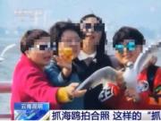 央视曝光不文明游客抓海鸥拍照