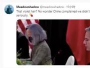 被吐槽的紫发女竟是美国总统首席翻译!但权威人士说她水平并不糟