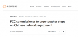 美FCC委员敦促加码打压华为中兴